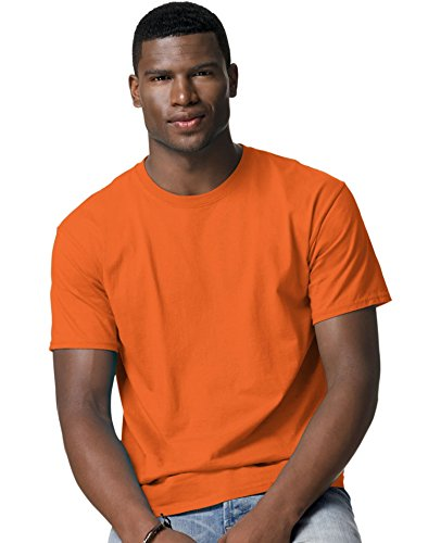 hanes-t-shirt-t-shirt-pour-homme-best-seller-5250-l-orange-de-securite