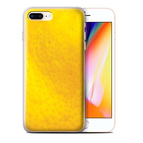 Stuff4 Gel TPU Hülle / Case für Apple iPhone 8 Plus / Kiwi Muster / Obst Kollektion Orange Peel / Haut