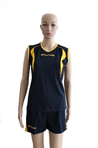 Givova Kit Volo Volley blu/giallo taglia 2XS
