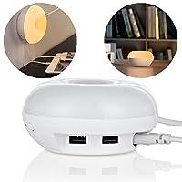 Caricatore da tavolo Beeiee® 2 porte USB con la lampada principale luce-sensibili  caratteristica: Caricatore da tavolo Beeiee® 2 porte USB con lampada da tavolo a LED. Intelligent Light Control-sensibile, più conveient da usare, la protezione degli ...