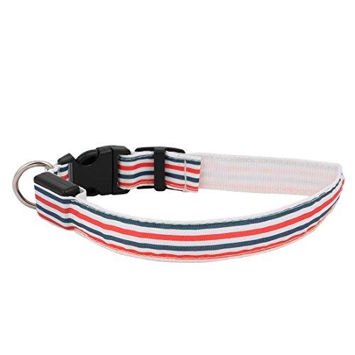sourcing map Farbeful LED Licht Verwahrung Sicherheit einstellbar Nylon S Größe Hunde Halsband de