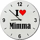 """EXCLUSIVO: Vidrio de reloj """"I Love Mimma"""" una gran idea para un regalo para su pareja, colegas y muchos más! - reloj, Regaluhr, Regalo, Amo, Made in Germany."""