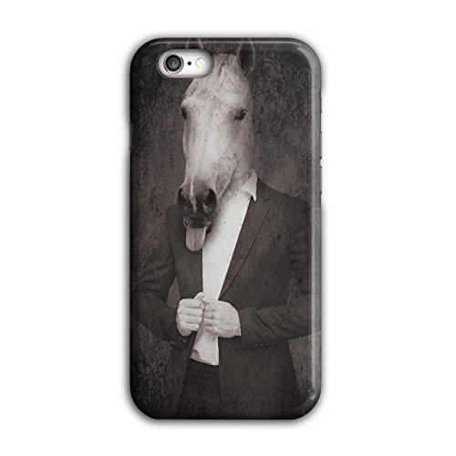 Pferd Anzug Krawatte Cool Komisch Pferd Gesicht iPhone 6 / 6S Hülle | (Cyclops Anzug)