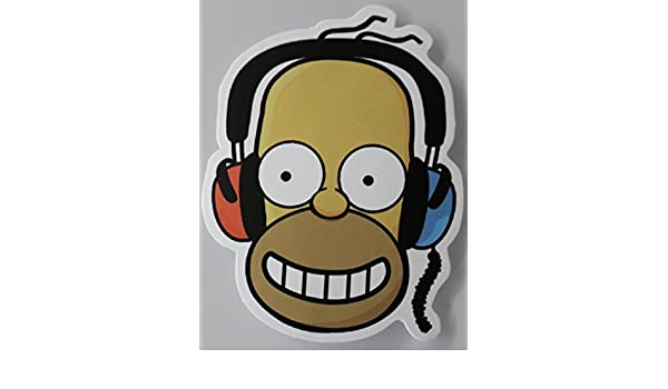 Outstanding Homer Simpson Headphones Multi Surface Sticker Amazon Co Uk Download Free Architecture Designs Scobabritishbridgeorg