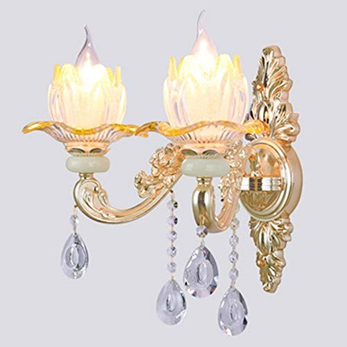 Lights & Lighting Delicious Ac100-240v Double Head Modern Crystal Wall Lamp Bedside Lamp Creative Arts Bedroom Living Room Wall Sconces Arandela E27 Making Things Convenient For Customers Led Indoor Wall Lamps