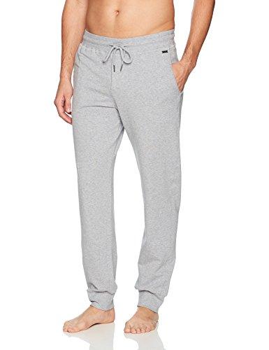 Hanro Herren Living Leisure Hose lang Sporthose, Grau (Grey Melange 1036), 58 (Herstellergröße: XXL) (Baumwolle Hose Gebürstete Pyjama)