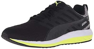 PUMA Men's Flare Q2 Filt Cross Training Sneaker, Black/White/Safety Grey, 8.5 D US