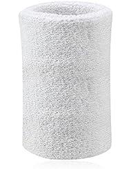 Kry - Muñequera absorbente de algodón para deportistas, color blanco, tamaño 8 * 15 cm / 3.15 * 5.91 inch