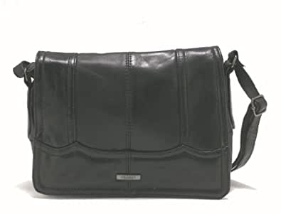 Lorenz Soft Nappa Leather Handbag with lots of compartments and a Flap