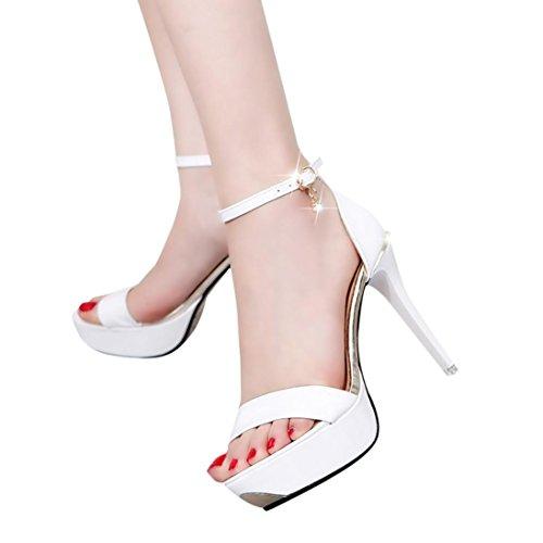 Sandales, Malloom® Femme ouvert Talons hauts Chaussures d'été Blanc