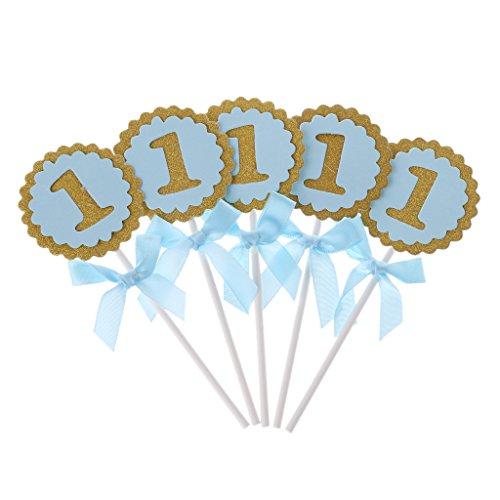 Ruda 10 Stücke Baby Geburtstag Cupcake Toppers Ballon Kuchen Backen Decor Für Party Supplies 1 Jahr Baby Dusche DIY