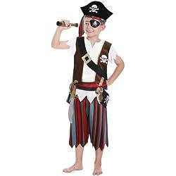 Disfraz de pirata grumete para niño, (3-5 años)