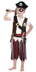 Amscan - Disfraz de pirata para niño, talla 3-5 años (CCS00008)