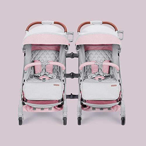 Littlefairy Kinderwagen,Twin Doppel zweites Kind Kinderwagen Trolley kann sitzen eine Schaltfläche Rücknahme leichte Falten Trolley 59 * 41 * 103 cm