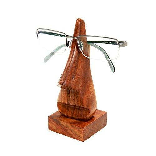purpledip Holz Brillen St?nder Brillen-Halter 'Nosey Nase': klassischen Design anspruchsvolles Geschenk (10739)
