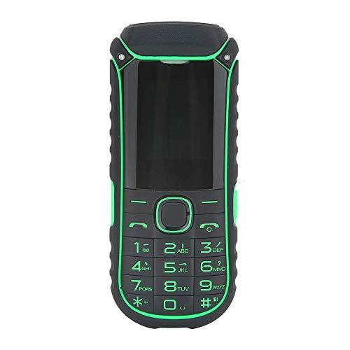 Handy-Taschenlampenhandy des Handys im Freien 2G,Outdoor-Handy Englisch Tastatur Dual SIM Karte LED Taschenlampe Bluetooth 4400 mAh Energienbank (Grün)