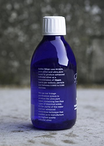 Active Silver Colloidal Silver – 500ml 10ppm Advanced Colloidal Silver is a natural product with antiseptic and antimicrobial properties. Use in the home or for travel.