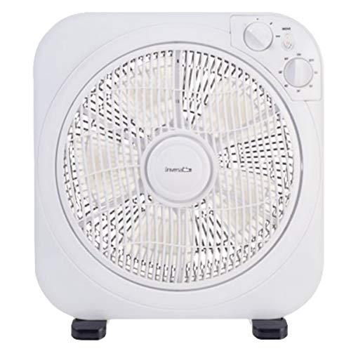 Boxventilator Ventilator UVBOX1240-19, 3 Geschwindigkeitsstufen, Timerfunktion, Quadratische Form, Besonders leise dank 5-Blatt-Rotor, 30 cm Durchmesser, Säulenventilator