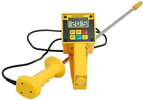 Draminski Hay & Silage High-Moisture Meter with Probe Plus Temperature Display by Draminski