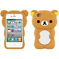 kwmobile FUNDA DE SILICONA Diseño Osito para Apple iPhone 4/4S - Un diseño elegante y una protección óptima
