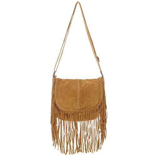 BACCINI borsa a spalla SARAH - sacchetto - borse a tracolla piccolo - borse a secchiello donna vera pelle beige beige - marrone