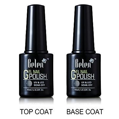 Gel Nail Starter Kit , Belen 4 Colours Soak-off Lacquer UV Gel Polish 10ML 36W UV Lamp Top & Base Coat New Starter Nail Art Manicure Kit