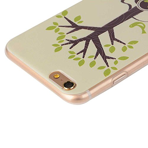 "Transparente iPhone 6S Etui, Flexible TPU Ultra Fine Poids léger Joli Peinture Image - Animal éléphant - Coque Case Apple iPhone 6 Plus 6S Plus 5.5"" Color-11"