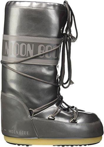 Moon Boot Vinile Met, Sport Extérieur Mixte Adulte Grigio (Argento)