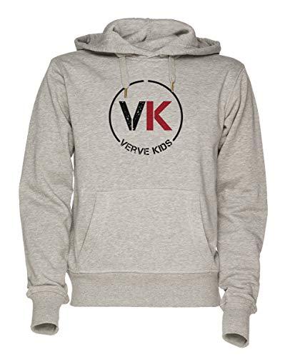 Jergley Vk Verve Kids Unisex Grau Sweatshirt Kapuzenpullover Herren Damen Größe XL | Hoodie for Men and Women Size XL