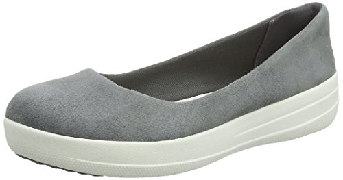 FitFlop Damen, F-Sporty Ballerina, Grau (Anthrazit), 41 EU (7 UK)