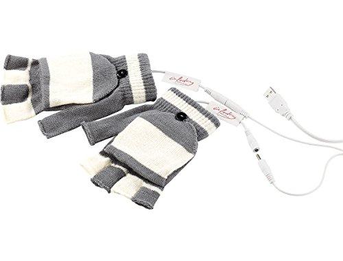 Preisvergleich Produktbild infactory Beheizbare Handschuhe: Beheizte USB-Handschuhe, bis 50 °C, entnehmbare Heiz-Elemente (Fingerhandschuhe)