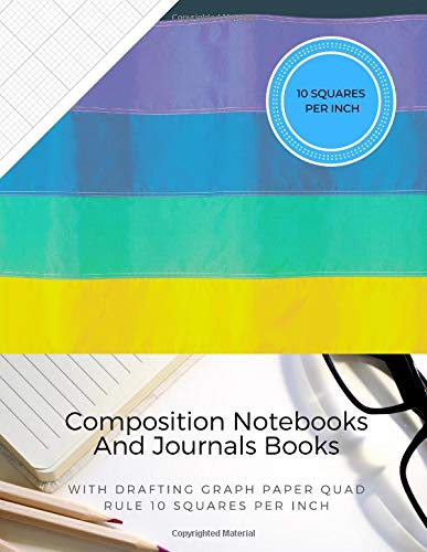Composition Notebooks And Journals Books With Drafting Graph Paper Quad Rule ( 10 Squares Per Inch ): Graphing Notebook Journal Book College Ruled Square Grid Minimalist Art Numbered Pages Volume 47 (7 X 10 3-ring Binder)