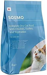 Marchio Amazon - Solimo Alimento secco completo per gatti adulti con pollo, tacchino e verdure, 1 confezione d