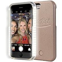 LuMee - Carcasa iluminada con LED para iPhone6 y 6S, con cable USB, recargable, rosa dorado