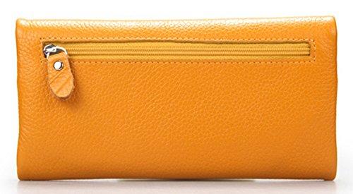 Keshi Leder Cool geldbörse damen lang Gelb