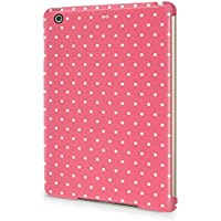 Candy Pink Polka Dots Pattern Durable Hard Plastic Snap-On Plastic Tablet Case Cover For iPad Mini 2 / 3