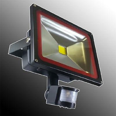 V-TAC : LED Fluter Scheinwerfer Strahler 30 Watt mit Bewegungsmelder IP65 Weiß 6000K ersetzt ca. 240W von V-TAC - Lampenhans.de