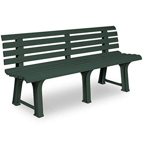 Gartenbank Sitzbank Parkbank Bank Orchidea Gartenmöbel Kunststoff 3 Sitzer 145x49x74cm grün