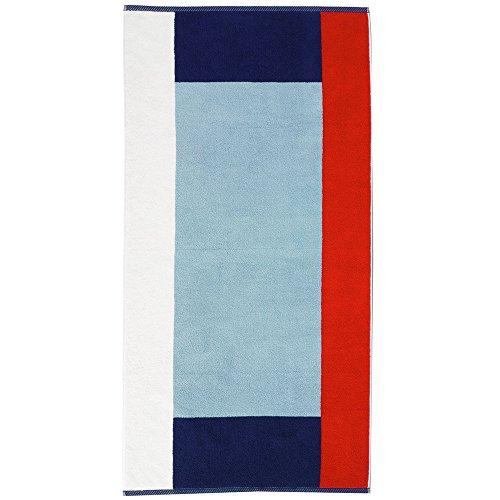 kela Badetuch Atlantik 70x140cm aus Baumwolle in blau/weiß/rot, 140x70x0.8 cm