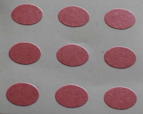 150 Etiquetas, 10x7mm óvalos, Rosa, pegatinas autoadhesivas, Minilabel Formas