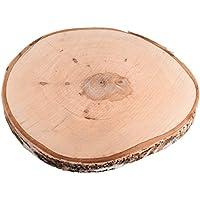 Rayher Hobby 55807000 Birkenscheibe, Holz, Braun, 29-32 cm Durchmesser