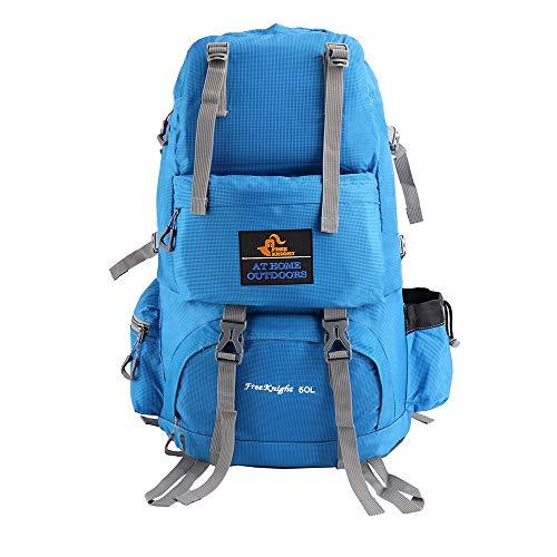 Issyzone 50L Mochila de Senderismo para Montaña de Acampadas Ordenador Impermeable de Aire Libre Excursionismo Viaje Ciclismo