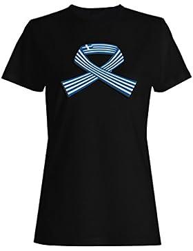 Arte Del Mapa Del Mundo De Grecia camiseta de las mujeres i720f