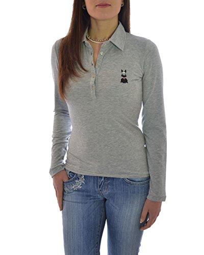 TIRDY polo donna con disegno ricamato sul fronte (M)