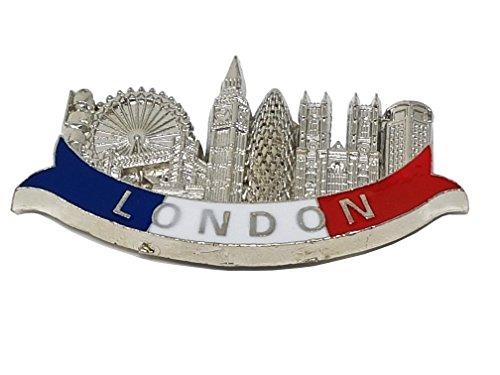 London Metall Magnet Kühlschrankmagnet Souvenir - Kleine/WORT UND Symbole/blau weiß und rot Band/Big Ben/Westminster Abbey/Eye/Tower Bridge/Wolkenkratzer Gherkin/Royal Guard/Telefon Box/British UK