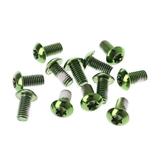 Lergo Fahrrad-Bremsscheibenschrauben, Legierung, Stahl, Rotor, für Mountainbike, 12 Stück, grün