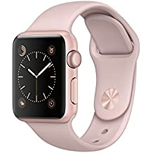 Apple Watch Series 1, 38 mm, Aluminium roségold, Sportarmband sandrosa