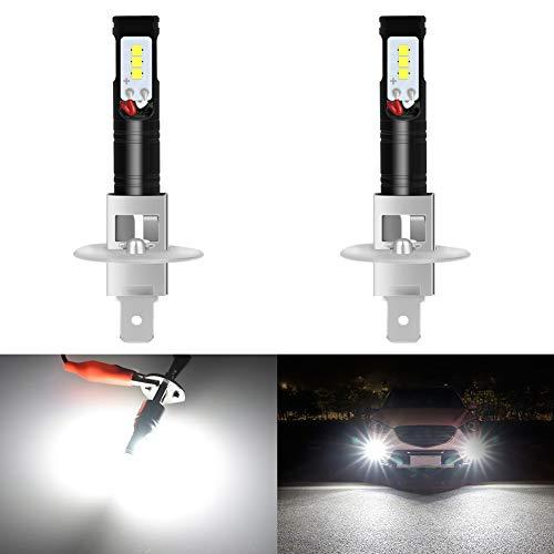 KaTur H1 LED Fend Light Bulb 1600 Lumen Max 80W Chip ad Alta Potenza CSP 6500K Xenon Bianco Sostituire per fendinebbia o Luce di Marcia Diurna DRL - 3 Anni di Garanz