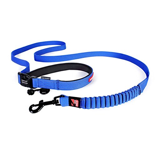 ezydog-road-runner-zero-shock-dog-lead-soft-touch-reflective-hands-free-leash-84-210cm-blue
