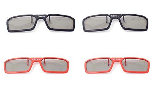 4 paar 2 blau 2 rote Passive Universal 3D neue Standard stummellenker Gläser erhältlich in schwarz-blau und rot für verschreibungspflichtige Brillen für alle Passive 3D-Kino Tvs und Projektoren